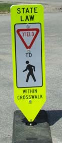 Pedestrian Crossing Sign YIELD